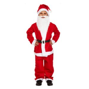 Age 10-12 Large BOYS Childs Santa Father Christmas Fancy Dress Costume